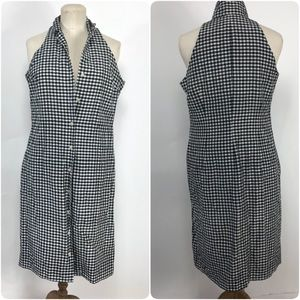 Lauren Ralph Lauren silk Blk& Wht gingham dress. 8